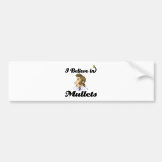 i believe in mullets bumper sticker