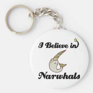 i believe in narwhals key ring