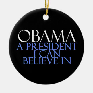 I Believe In Obama Christmas Ornament