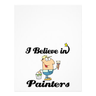 i believe in painters 21.5 cm x 28 cm flyer