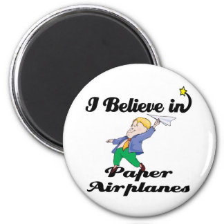 i believe in paper airplanes 6 cm round magnet