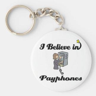 i believe in payphones key ring