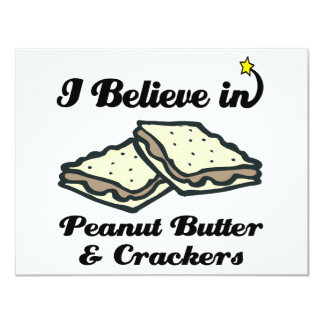 i believe in peanut butter and crackers custom invitation
