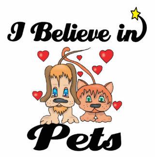 i believe in pets standing photo sculpture