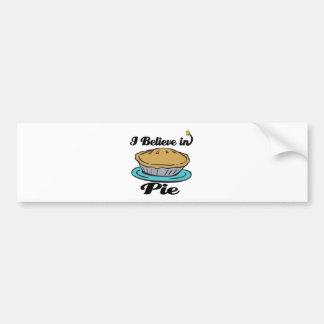 i believe in pie bumper sticker