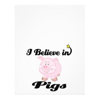 i believe in pigs 21.5 cm x 28 cm flyer