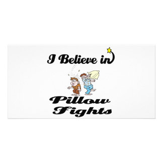 i believe in pillow fights photo greeting card