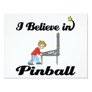 i believe in pinball 11 cm x 14 cm invitation card