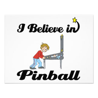 i believe in pinball personalized invitation