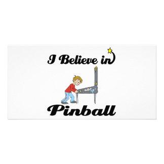 i believe in pinball photo greeting card