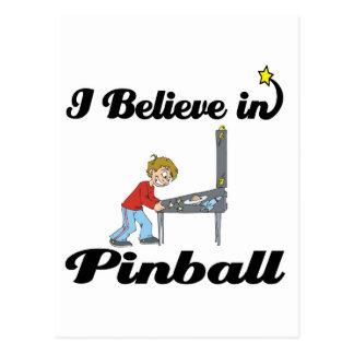 i believe in pinball postcard