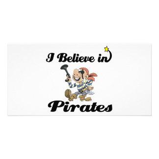 i believe in pirates picture card