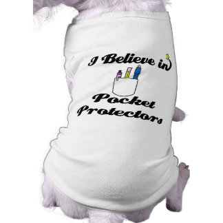 i believe in pocket protectors sleeveless dog shirt