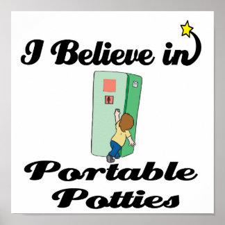 i believe in portable potties poster