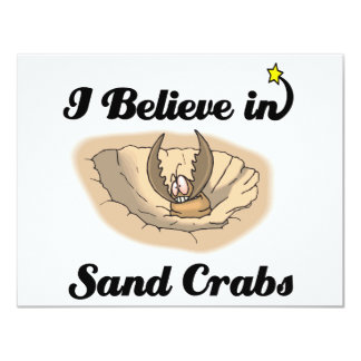 i believe in sand crabs custom announcements