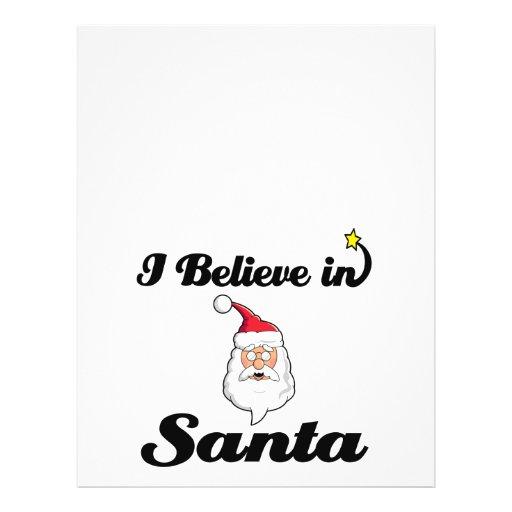 i believe in santa 21.5 cm x 28 cm flyer