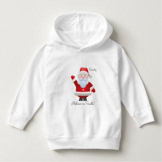 I believe in Santa. Christmas Baby Hoodie