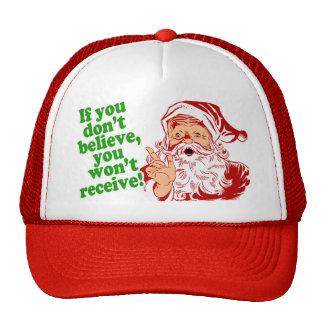 I Believe in Santa Claus Mesh Hats