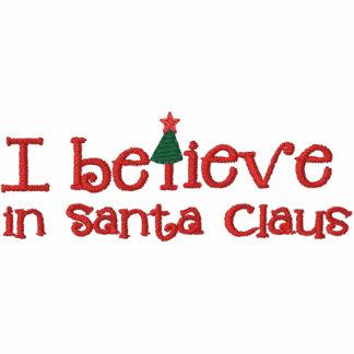 I Believe in Santa Embroidery Hoodie