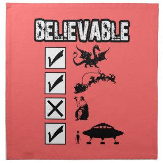 I believe in Santa Napkin