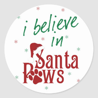 I Believe in Santa Paws Classic Round Sticker