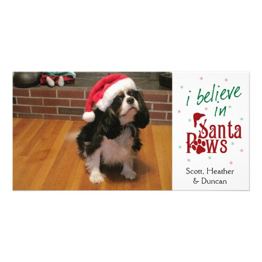 I Believe in Santa Paws Photo Card Template