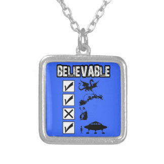 I believe in Santa Silver Plated Necklace