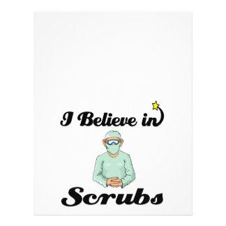 i believe in scrubs 21.5 cm x 28 cm flyer