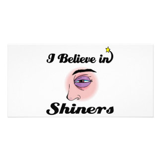i believe in shiners customized photo card