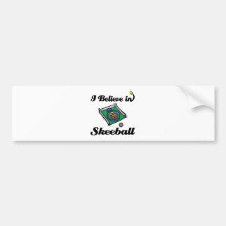 i believe in skeeball bumper sticker