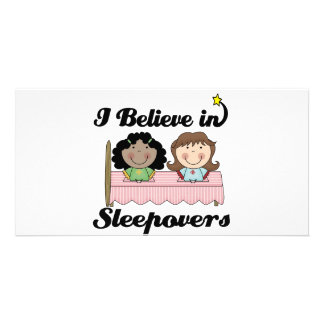 i believe in sleepovers picture card