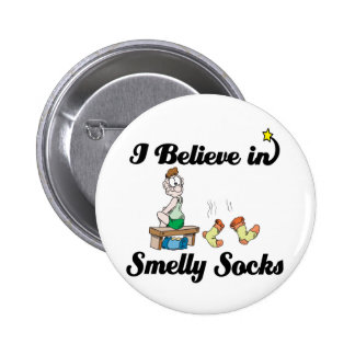 i believe in smelly socks 6 cm round badge