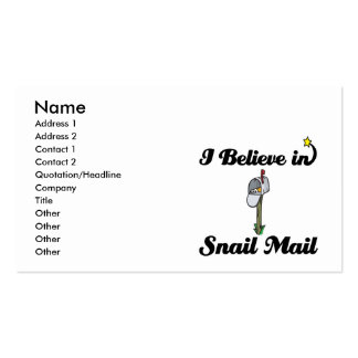 i believe in snail mail pack of standard business cards
