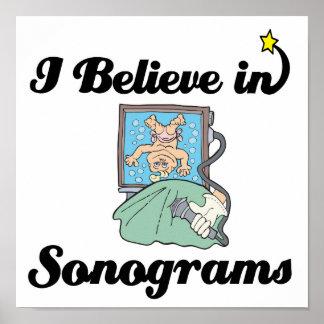 i believe in sonograms poster