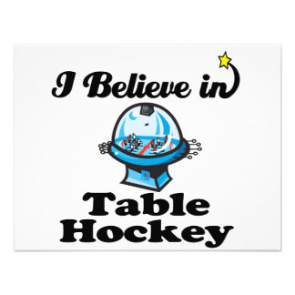 i believe in table hockey personalized invitations