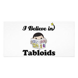 i believe in tabloids photo card template