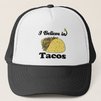 i believe in tacos trucker hat
