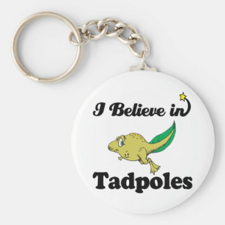 i believe in tadpoles keychains