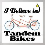 i believe in tandem bikes poster