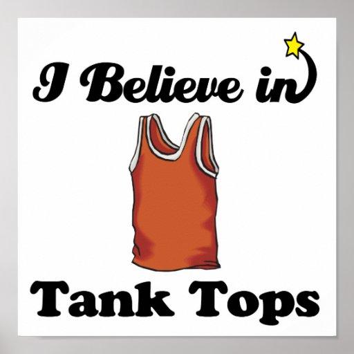 i believe in tank tops print