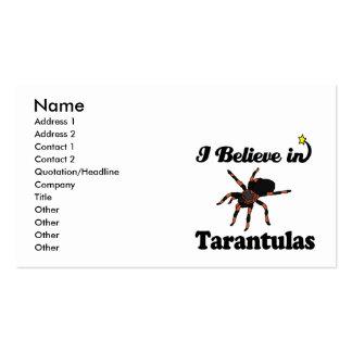 i believe in tarantulas business card templates