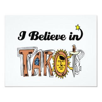 i believe in tarot 11 cm x 14 cm invitation card
