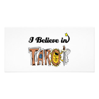 i believe in tarot personalized photo card