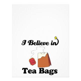 i believe in tea bags 21.5 cm x 28 cm flyer