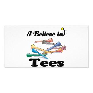 i believe in tees custom photo card