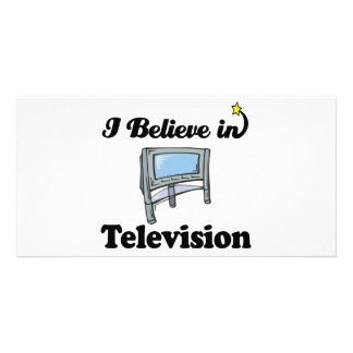 i believe in television customised photo card