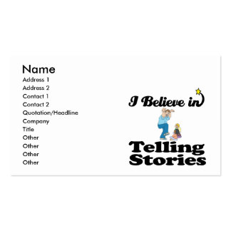 i believe in telling stories business cards
