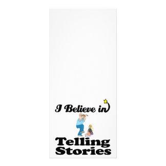 i believe in telling stories custom rack card