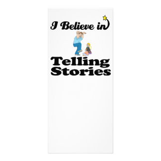i believe in telling stories rack card design