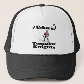 i believe in templar knights trucker hat